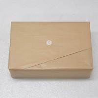 外箱をクラフト紙で包装しました。イリコスキーのロゴマークがはいります。